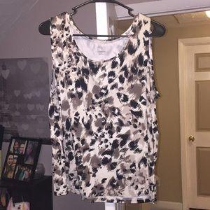 FINAL PRICE!!! Grey and black cheetah top